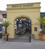 The famous French Market in New Orleans - NEW ORLEANS, LOUISIANA - APRIL 18, 2016 stock photos