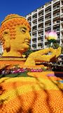 Art made of lemons and oranges in the famous Lemon Festival Fete du Citron in Menton, France. The famous fruit garden receives 230,000 visitors a year royalty free stock image