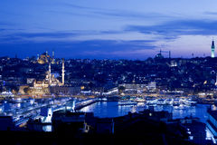 Golden Horn at Night Royalty Free Stock Image