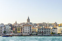 The famous Galata embankment in Istanbul, Stock Images