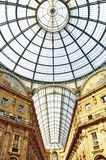 Famous Galleria Vittorio Emanuele shopping Center Royalty Free Stock Photography