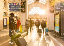 The famous Gare du Nord Station in Paris, France Stock Photos
