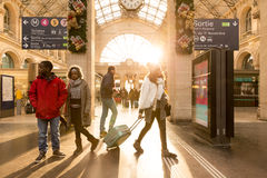 The famous Gare du Nord Station in Paris, France stock images