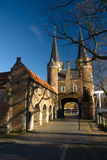 Famous gate to the city in Delft (Oostpoort) royalty free stock photography