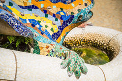 Famous Gaudi lizard in park Guell, Barcelona, Spain Royalty Free Stock Photography
