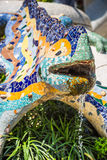 Famous Gaudi lizard in park Guell, Barcelona, Spain.  Stock Images