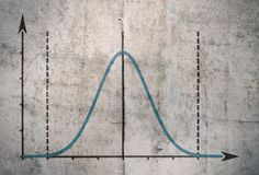 Famous Gauss curve stock image