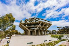 The famous Geisel Library of Universtiy of California San Diego royalty free stock photography