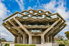 The famous Geisel Library of Universtiy of California San Diego royalty free stock images
