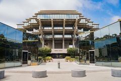 The famous Geisel Library of Universtiy of California San Diego royalty free stock photos