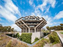 The famous Geisel Library of Universtiy of California San Diego royalty free stock image