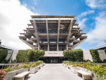 The famous Geisel Library of Universtiy of California San Diego royalty free stock photo