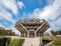 The famous Geisel Library of Universtiy of California San Diego stock photography
