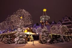 Famous German Christmas Market after hour Stock Photo
