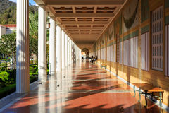 The famous Getty Villa. Los Angeles, SEP 28: The famous Getty Villa on SEP 28, 2014 at Los Angeles Stock Image