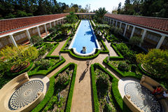 The famous Getty Villa. Los Angeles, SEP 28: The famous Getty Villa on SEP 28, 2014 at Los Angeles Stock Photos