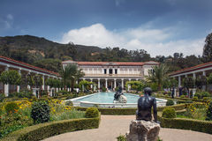 Famous Getty Villa. LOS ANGELES, USA - May 25: The famous Getty Villa on May 25, 2009 in Los Angeles. The design of the Getty Villa was inspired by ancient Stock Image