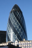 The famous Gherkin in London. The famous Gherkin in the City of London Stock Photography