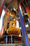 Famous giant seated Buddha at Lingyin Temple Stock Photos