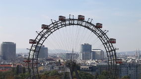 The famous Giant Wheel in Vienna - Austria stock video footage