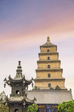 The famous Giant Wild Goose Pagoda Royalty Free Stock Photo
