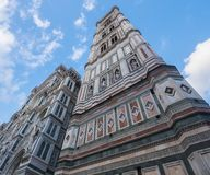 Famous Giotto Tower at Florence Cathedral called Giottos Campanile Stock Photography