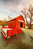 The Famous Glenorchy Red Shack Queenstown stock image