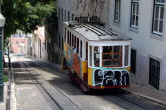 Famous  Gloria funicular in Lisbon Stock Photography
