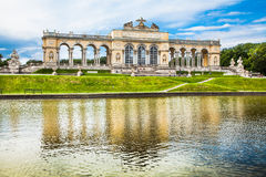 Famous Gloriette at Schonbrunn Palace in Vienna, Austria. Beautiful view of famous Gloriette at Schonbrunn Palace and Gardens in Vienna, Austria Royalty Free Stock Photography
