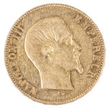 Famous gold coin Royalty Free Stock Photo
