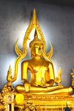 The famous Golden Buddha image in Wat Benchamabophit Stock Image