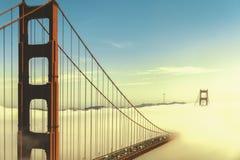 Golden Gate bridge in the mist royalty free stock photo