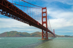The famous Golden Gate Bridge in San Francisco California Stock Images