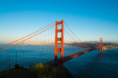The famous Golden Gate Bridge in San Francisco California Royalty Free Stock Photos