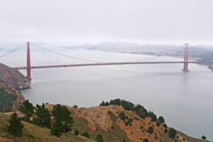 Famous Golden Gate Bridge in San Francisco Stock Photography