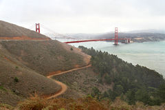 Famous Golden Gate Bridge in San Francisco, USA Royalty Free Stock Images
