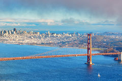 Famous Golden Gate bridge in San Francisco, USA stock photography