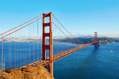 Famous Golden Gate bridge in San Francisco, USA Stock Images