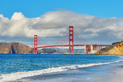 Famous Golden Gate bridge in San Francisco, USA stock images