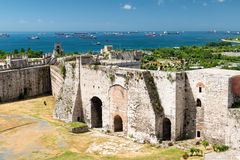 Famous Golden Gate of Constantinople in Istanbul, Turkey. Inside the Yedikule fortress stock images