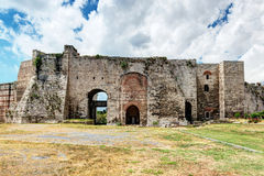 Famous Golden Gate of Constantinople in The Yedikule Fortress in. Famous Golden Gate of Constantinople. Inside the Yedikule Fortress in Istanbul, Turkey stock photography