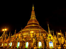 The famous golden pagoda Shwedagon at night, Yangon, Myanmar 2 Royalty Free Stock Photography