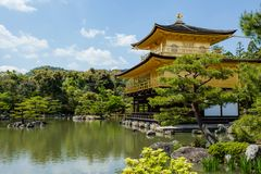 Famous Golden Pavilion Kinkaku-ji in Kyoto Japan Royalty Free Stock Image