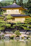 Famous Golden Pavilion Kinkaku-ji in Kyoto Japan Stock Image
