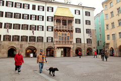 Famous golden roof in Innsbruck, Austria Royalty Free Stock Images