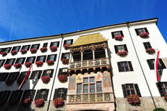 Famous Golden Roof in old town of Innsbruck Stock Photo