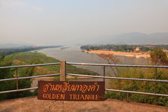 The famous Golden Triangle the Mekong River Stock Photography