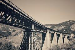 Rebel& x27;s Bridge. Famous Gorgopotamos bridge, that was blown away by the Greek rebels in word war 2 Stock Photo