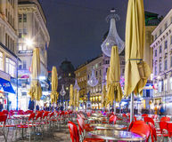 Famous Graben street at night Stock Photo