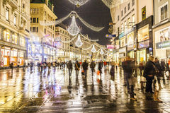 Famous Graben street by night Royalty Free Stock Image